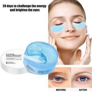 Whitening Firming Eye Patch 60pcs Hyaluronic Acid Moisturizing Eye Mas Blue