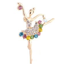 Pin Jewelry Women Bouquet Accessory Dancing Ballet Girl Brooch Rhinestone Brooch