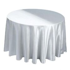 "15 Pack 120"" Inch round Satin Tablecloth 21 COLORS Table Cover Wedding Banquet"