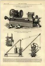 1888 Crank Sweep Cutting Machine Wilkinson Keighley Butter Derrick Crane