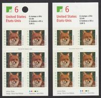 SPECKLED Booklet PAIR = Red Fox, Canada 2000 #1879aiI (MF), 1879ai (LF)