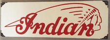 INDIAN MOTORCYCLE ENAMEL SIGN (MADE TO ORDER) #101