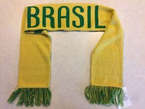 Unique Nike Brazil Brasil Soccer Scarf Proto Sample 2009 Pre World Cup Green