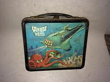 Vintage 1960's 1967 Voyage To The Bottom Of The Sea Tin Metal Lunch Box Lunchbox