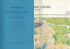 Geologische Karte von Bayern 1:25.000 Blatt Nr. 6637 RIEDEN + Erläuterungen