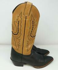 Justin Cowboy Boots Womens Pointed Toe Leather Cowgirl Brown 7