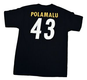 Reebok Mens NFL Pittsburgh Steelers Troy Polamalu Shirt New M
