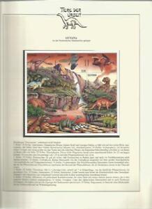 81532/ Dinosaurier Fauna Tiere ** MNH OHNE VORDRUCK GUYANA
