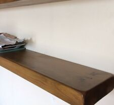 """10"""" X 2"""" Thick Rustic Floating Wooden Shelf Solid Chunky Wood 50cm long"""