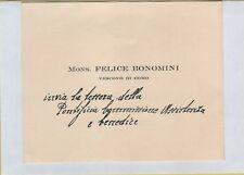 142443 CARTONCINO MONS FELICE BONOMINI VESCOVO DI COMO