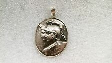 Silver Roman warrior head Pendant Solid sterling silver with shield and chariot