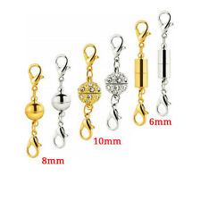 12 Magnetic Clasps Hooks Column Necklace Connectors For DIY Jewelry Making