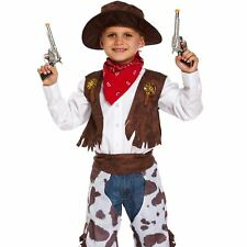 Boys Cowboy Fancy Dress Costume Western Book Week Childrens Kids Outfit