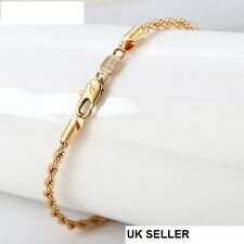 "9K 9ct Yellow ""Gold Filled"" Yellow Rope Chain Bangle Bracelet. L= 8.3""  ,2201"