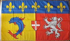 Rhone-Alpes France Flag 5x3 French Region Francais Heraldic Heraldry Medieval bn
