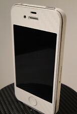 iPhone 4 White 3M Di-Noc Carbon Fiber Vinyl Full Body Skin sticker * For i4 *