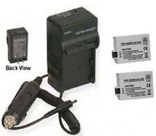 Two 2 Batteries LP-E5 + Charger for Canon EOS 450D 500D 1000D Kiss X3 Digital