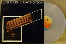 "12"" New Wave Electronic SYNTH Pop Clear Vinyl ULTRAVOX Slow Motion/Dislocation"