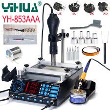 3 in 1 YIHUA 853AAA 110V BGA Rework Soldering Station Hot Air Gun Solder Iron