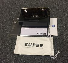 New In Box RetroSuperFuture 598 Chicano Burnt Havana Ciccio Flat Top Sunglasses