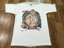 M - Vtg 90s San Antonio Spurs #1 Draft Pick Tim Duncan Caricature T-shirt Usa