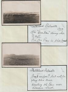 FALKLAND ISLANDS - 2 EARLY MILITARY 1932 PHOTOS