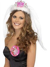 Bachelorette Party Favors BRIDE TO BE TIARA w/ VEIL WHITE