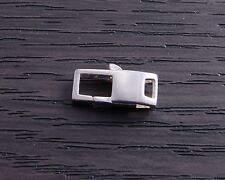 One Sterling Silver 12.9 mm Square Lobster Claw Clasp DB4N