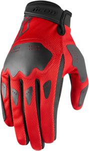 Icon Hooligan Mens Pair Short Cuff Motorcycle Riding Street Racing Gloves