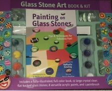 New Sealed Ages 8+ Painting on Glass Stone Art Book & Kit by Mud Puddle Inc Toy