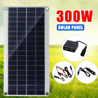 300W Flexible Solar Panel Kit Controller Dual USB Battery Charger Car RV Camping