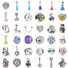 European Silver Fine Charms Beads Dangle Pendant Fit 925 Sterling Bracelet Chain