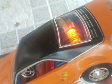 VINTAGE TORNADO TIN TOY CAR JAPAN TAIYO BATTERY OPERATED RARE ORANGE COLOR WORKS