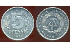ALLEMAGNE  DDR  5 pfennig 1985