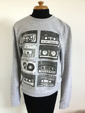 Excellent Men's H & M DIVIDED Grey Long Sleeve Casual Jumper Sweatshirt - S
