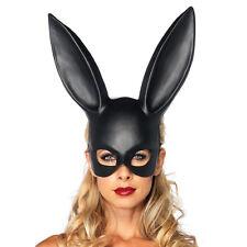 Fashion Easter Bar Ball Masquerade Bunny Rabbit Face Mask Black Costume Acce