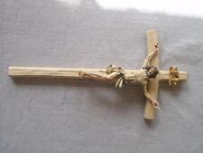 Jesuskreuz aus Holz Jesus am Kreuz Kruzifix Religion. 25 x13 cm * Neu.*