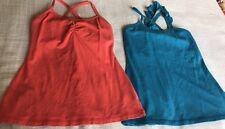 2 Nancy ROse Women's Tops Active Yoga Shirts Workout Clothing Sz 6 Orange