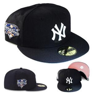 New Era New York Yankees Fitted Hat 2000 World Series Patch Pink Under Brim Cap