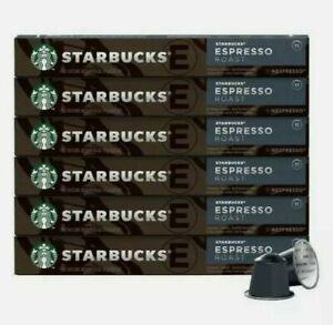 60 StarbucksEspresso Roast by Nespresso10 Capsules x 6 Pack Coffee EX 22april/21
