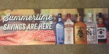 Liquior Sign Pinnacle Vodka Captain Morgan Rum Jim Beam Bourbon Whiskey Sign