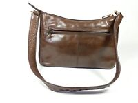 Sirco small brown leather handbag 24.5cm x 15.5 super condition