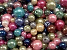 750X Wholesale Mixed Style Round Glass Beads Craft Accessories 4-10mm
