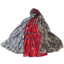 """Avon Pretty Printed Scarf 3 Pack Long 72"""" Length Leopard, Floral, Lace Polyester"""