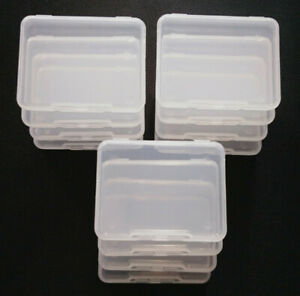 10x Clear Storage Box Rectangle Plastic Earplugs Bead Jewelry Case Container Acc