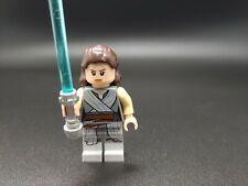 Lego Star Wars Minifigure Rey In Dark Gray Robe Set 75189