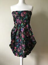 ASOS Strapless Corset Floral Dress Size 14 BNWT Party Occasion Cocktail