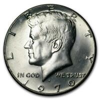 1970 D KENNEDY HALF DOLLAR! 40% SILVER COIN! GEM UNC PULLED FROM SET.