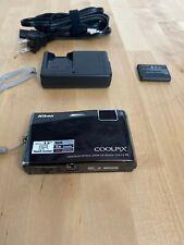Nikon COOLPIX S60 10.0 MP Digital Camera Brown 5x Zoom VR- Touchscreen Bundle