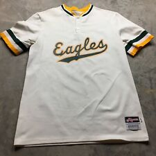 80s VTG RIPON ATHLETICS EAGLES Baseball Jersey Size 44 Sand Knit Made USA Berlin